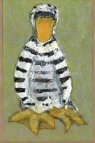 "Jailbird by Leah McCloskey archival craftpaper 13 x 17"""