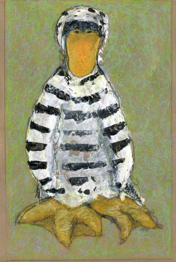 Jailbird by Leah McCloskey archival craft paper 13 x 17""