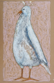"""Emily by Leah McCloskey 13 x 17"""" mixed media on archival craft paper"""