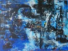 """Alluvion Leah McCloskey acrylic on canvas 40"""" x 30"""""""