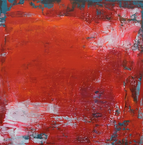 "Catching the Sun Eyes Closed Leah McCloskey acrylic on canvas 36 ""x 36"""