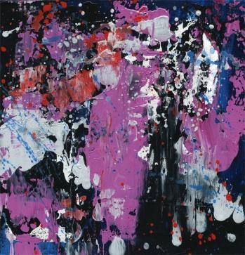 """Caught In the Rain Leah McCloskey acrylic on canvas 12"""" x 12"""""""