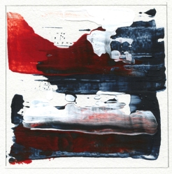 """Delving Deep I Leah McCloskey acrylic on paper 6 x 6"""" matted 12"""" x 12"""""""