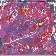 "Dawdling In The Garden Leah McCloskey acrylic on paper 12"" x 12"""