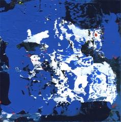 """Life in Blue Leah McCloskey acrylic on canvas 12"""" x 12"""""""