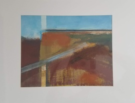 Landscape Study Oil #2 on paper 20 x 16″ matted $50