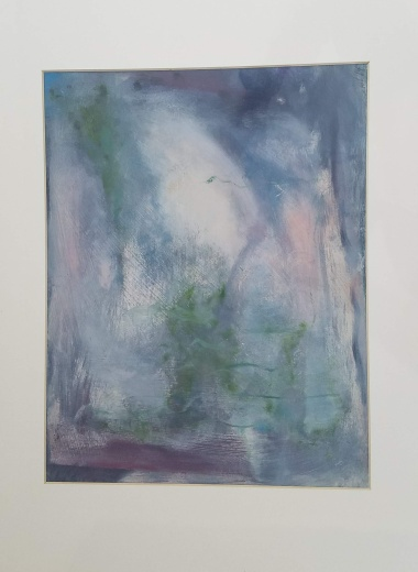 Landscape Study Oil #3 on paper 20 x 16″ matted $50