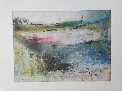 Landscape Study #5 mixed media 20 x 16″ $50 matted