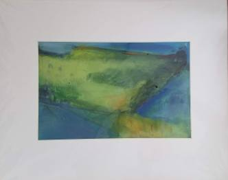 Landscape Study Oil #6 on paper 20 x 16″ matted $50