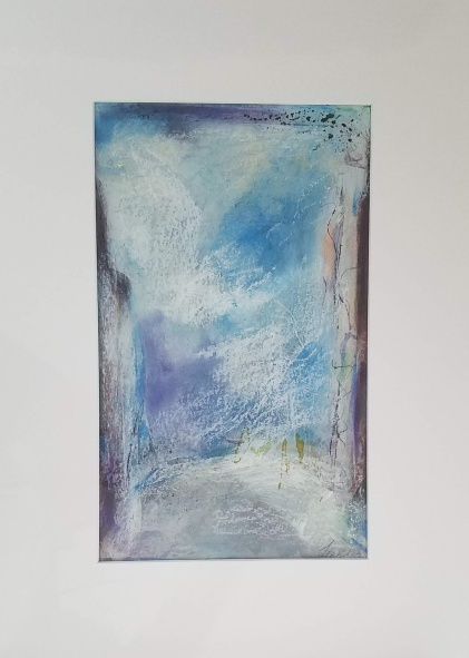 "Winter on 57th Street mixed media on paper 16 x 20"" $60"